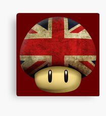 Union jack Mario's mushroom Canvas Print