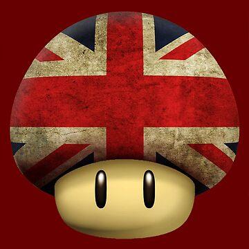 Union jack Mario's mushroom by Laflagan
