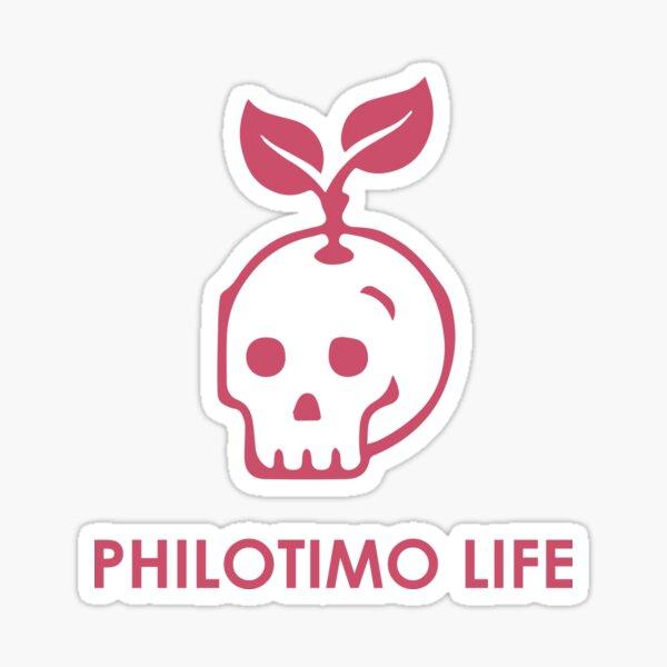 Philotimo Life Skull Sticker Sticker