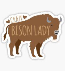 Crazy Bison Lady Sticker