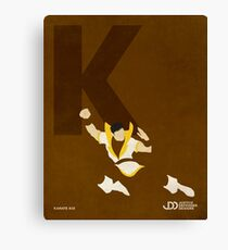 Karate Kid - Superhero Minimalist Alphabet Print Art Canvas Print