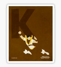 Karate Kid - Superhero Minimalist Alphabet Print Art Sticker