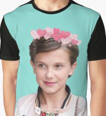 millie bobby brown stranger things teal Graphic T-Shirt