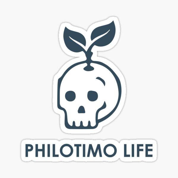 Philotimo Life - Skull Sticker Sticker