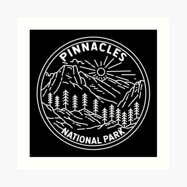 Pinnacles National Park California Monoline Art Print
