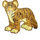 Tiger Cub by evisionarts