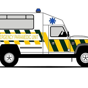 A Graphical Interpretation of the Defender 130 Single Cab Ambulance by 3pedaldriving