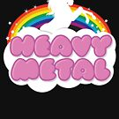 Heavy Metal Einhorn Regenbogen von Tee Dunk