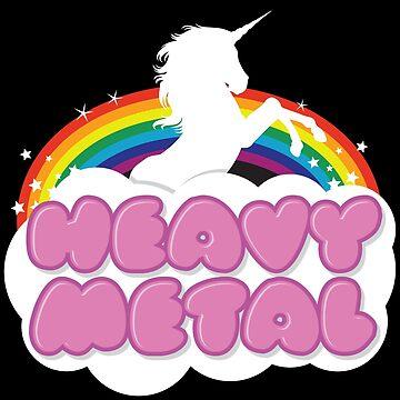 Heavy Metal Unicorn Rainbow  by atomickid