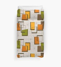 Rectangles and Stars Mid-Century Duvet Cover