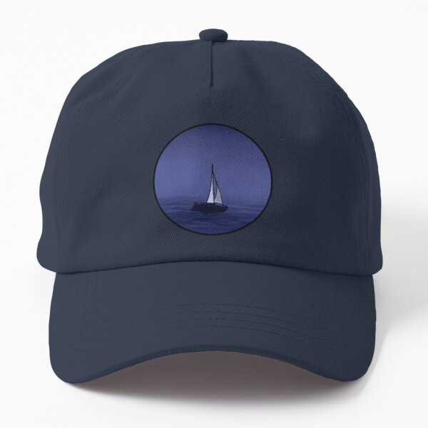 Blue Aesthetic Sailboat Dad Hat