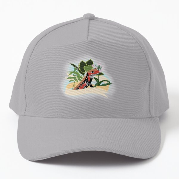 Fire skink and flowers Baseball Cap