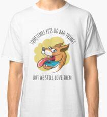 Dog Bites Cell Phone Classic T-Shirt