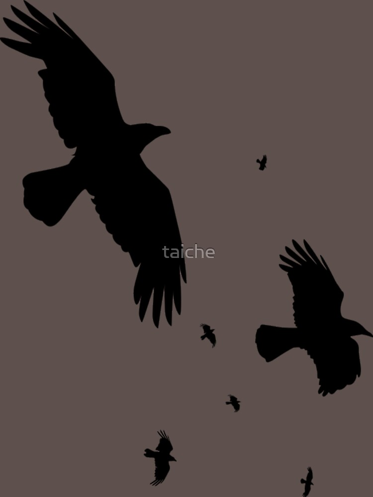 A Murder of Crows In Flight Vector Silhouette | Women's T-Shirt