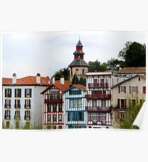 Colorful Architectures - Basque Country, France. Poster