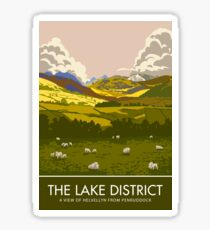 The Lake District, Helvellyn from Penruddock Sticker