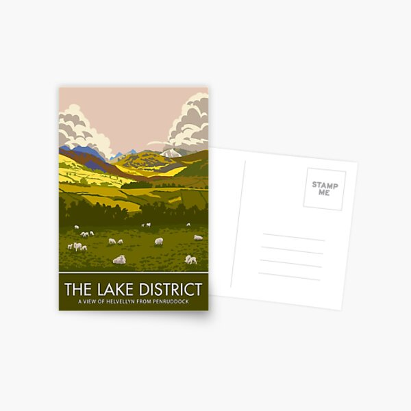 The Lake District, Helvellyn from Penruddock Postcard