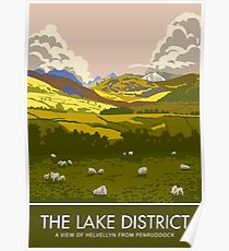The Lake District, Helvellyn from Penruddock Poster