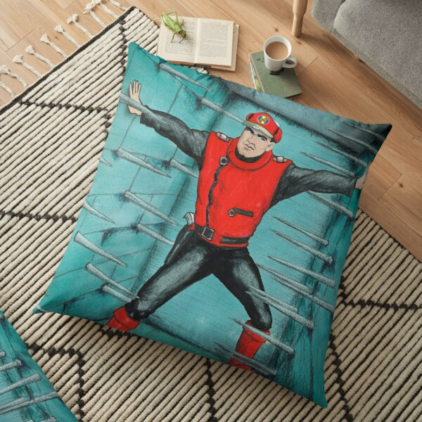 My version of one of the pieces of art from the Captain Scarlet credits. Floor Pillow