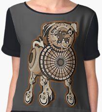 Steampunk Pug Women's Chiffon Top