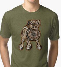 Steampunk Pug Tri-blend T-Shirt