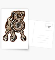 Steampunk Pug Postcards