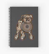 Steampunk Pug Spiral Notebook