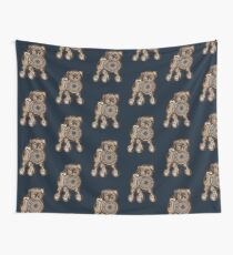 Steampunk Pug Wall Tapestry