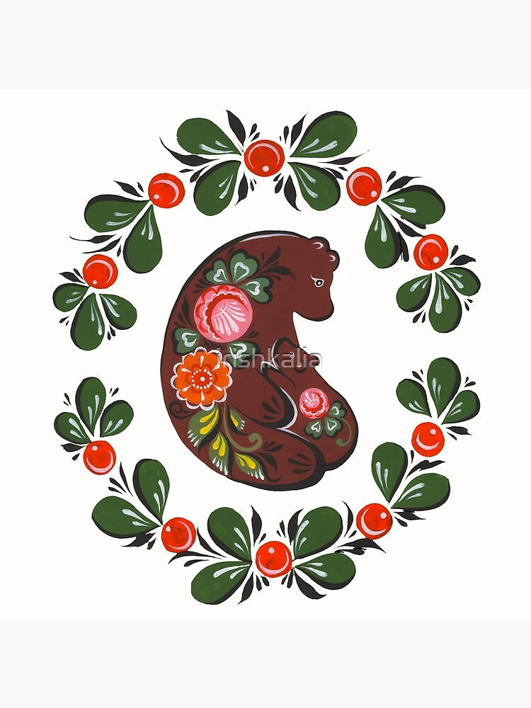 Mama bear and baby bear by irishkalia