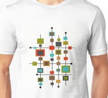 Mid-Century Abstract Squares Unisex T-Shirt
