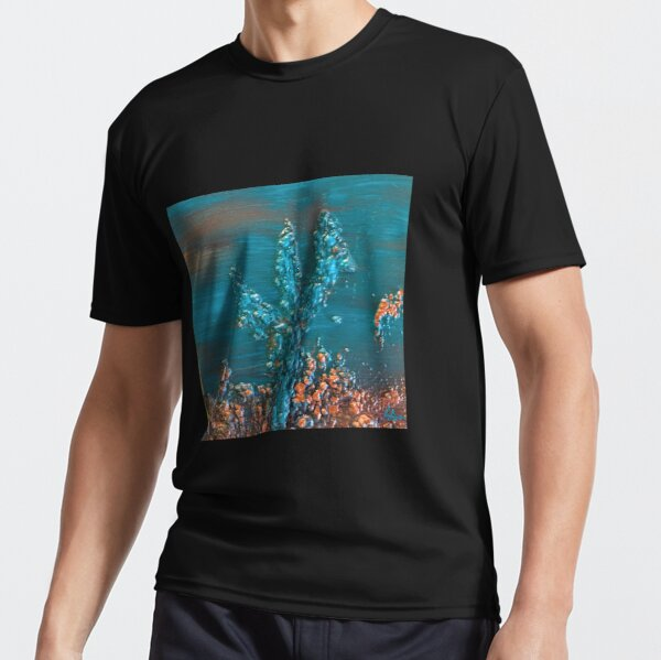 Elevated Cactus in the Desert Art Print Active T-Shirt