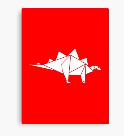 Prehistoric Origami - Stegosaurus Canvas Print