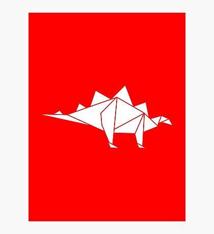 Prehistoric Origami - Stegosaurus Photographic Print