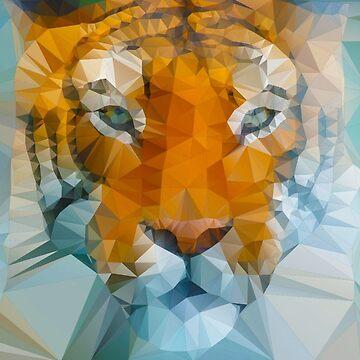Polygon art tiger by polyart
