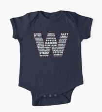W is for Win Flag - Fun North Side Sports Roster Logo Kids Clothes