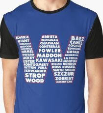 W is for Win Flag - Fun North Side Sports Roster Logo Graphic T-Shirt