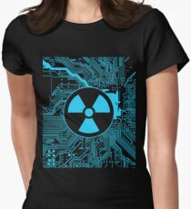 Cybergoth - Radioactive (blue) Women's Fitted T-Shirt
