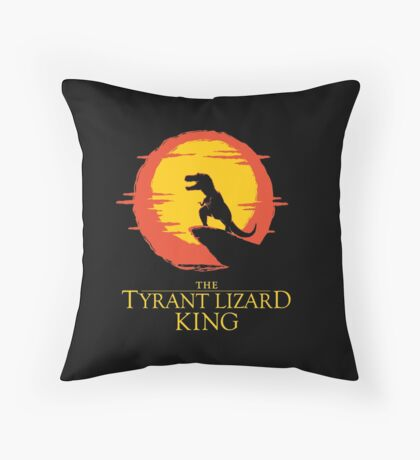 The Tyrant Lizard King  Throw Pillow