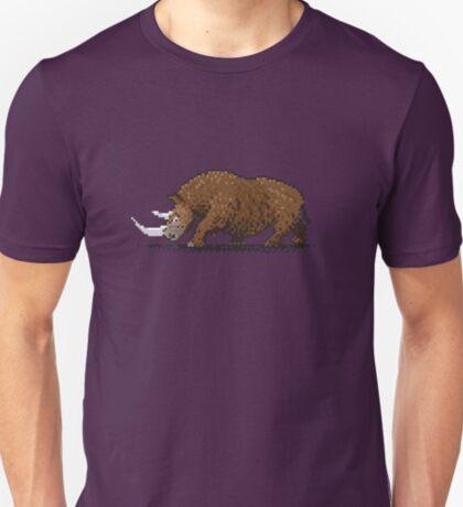 Prehistoric Pixels - Woolly Rhino  T-Shirt