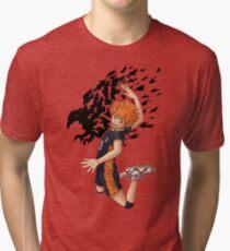 Camiseta de tejido mixto Haikyuu !!