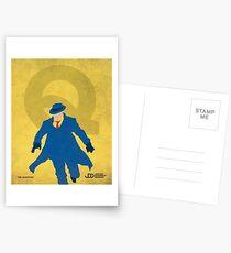 The Question - Superhero Minimalist Alphabet Print Art Postcards