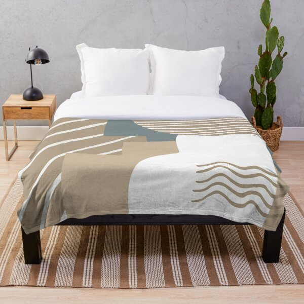 Abstract sand and sea design Throw Blanket
