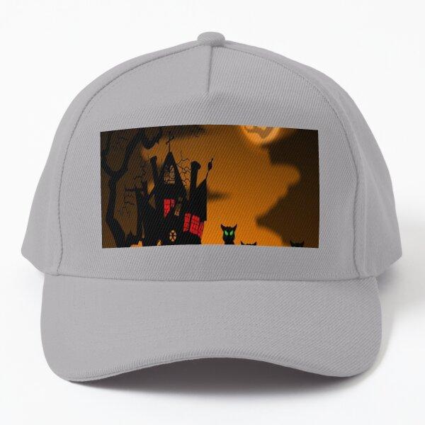 Halloween haunted house  Baseball Cap