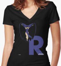 Raven - Superhero Minimalist Alphabet Clothing Women's Fitted V-Neck T-Shirt