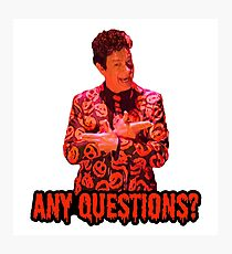 David S. Pumpkins - Any Questions? II Photographic Print