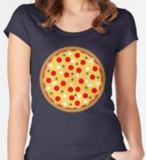 Cool and fun vector pizza Women's Fitted Scoop T-Shirt