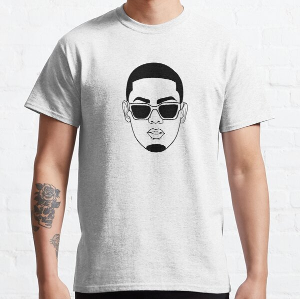 Myke Towers retrato dibujo Camiseta clásica