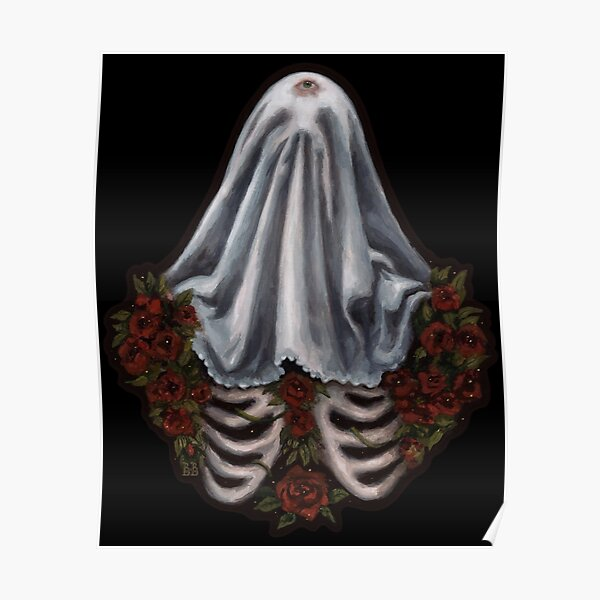 Lonely Ghost Skeleton Poster