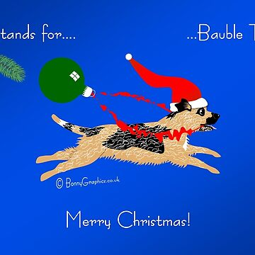 Border terrier - bauble thief! by BonnyGraphics