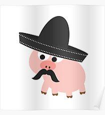 Cerdito Bandito Pig Poster